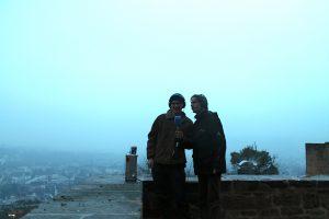 Sven und Gregor am Schloss