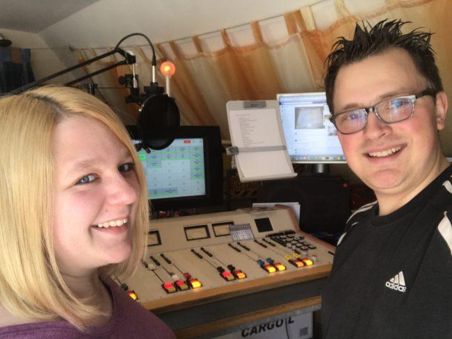Désirée und Gregor im Studio
